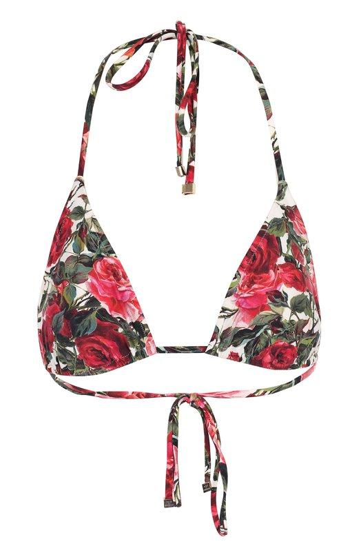 Треугольный бра с цветочным принтом Dolce & Gabbana 0124/01A00J/FSGIU