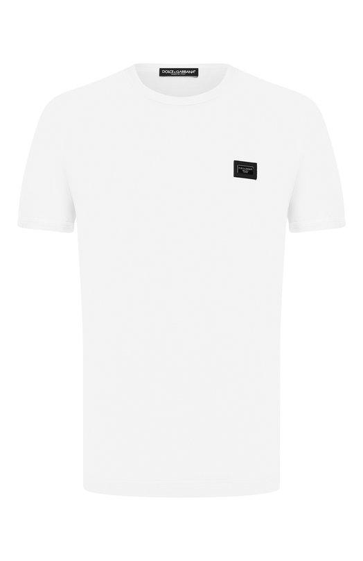 Купить Хлопковая футболка с круглым вырезом Dolce & Gabbana, 0101/G8GX8T/G7JYY, Италия, Белый, Хлопок: 100%;