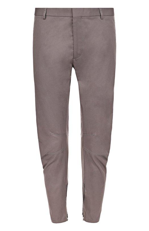 Хлопковые зауженные брюки с молниями Lanvin RMTR0006P17