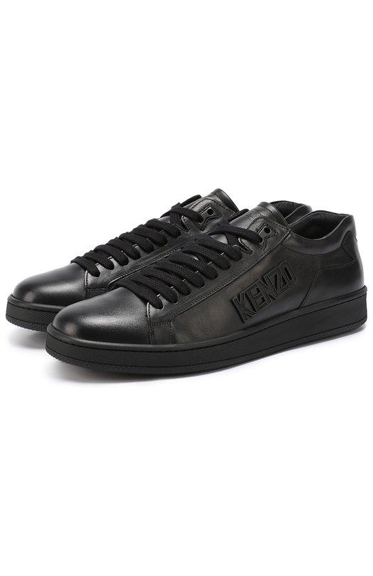 Кожаные кеды Tennix на шнуровке Kenzo M60841 E17-TENNIX NAPPA UNI