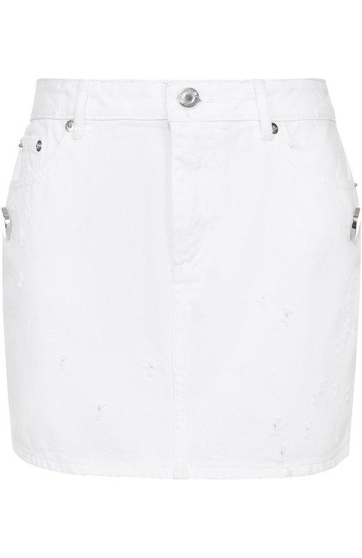 Мини-юбка с карманами и потертостями Givenchy 17P/4522/604