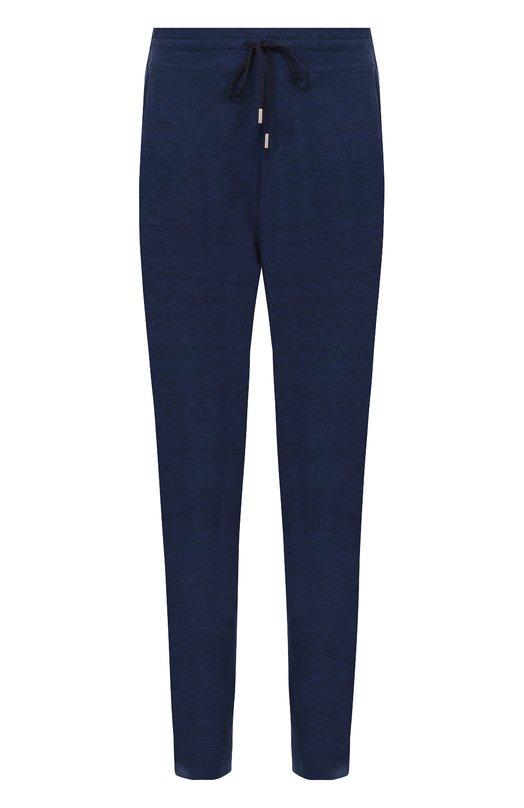 Шерстяные брюки прямого кроя с поясом на резинке Canali MJ00159/T0381