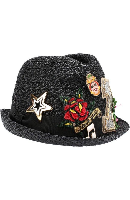 Шляпа с декоративной отделкой Dolce & Gabbana 0136/FH367Z/GD961