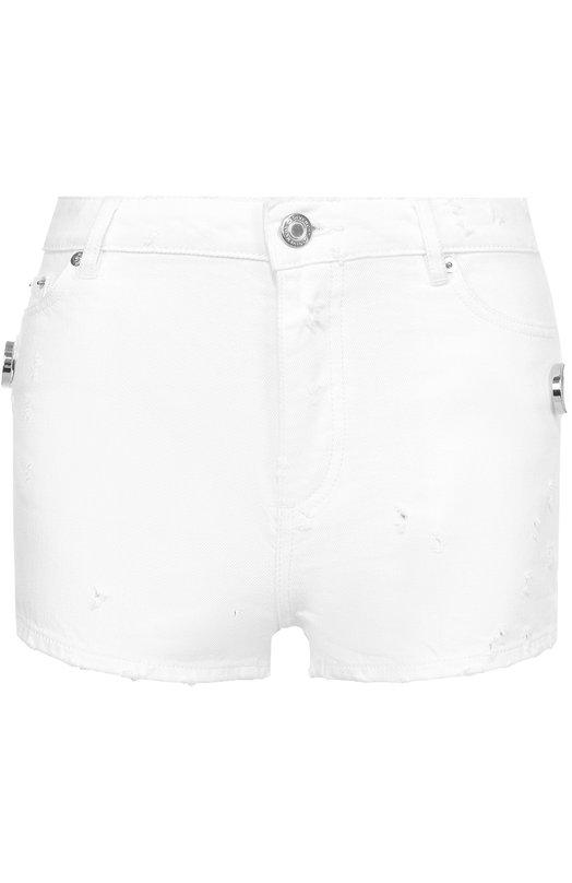 Джинсовые мини-шорты с потертостями Givenchy 17P/5558/604