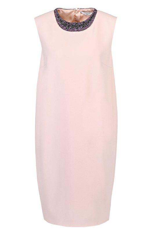Мини-платье прямого кроя с контрастной вышивкой Lanvin RW-DR2038-3415-P17