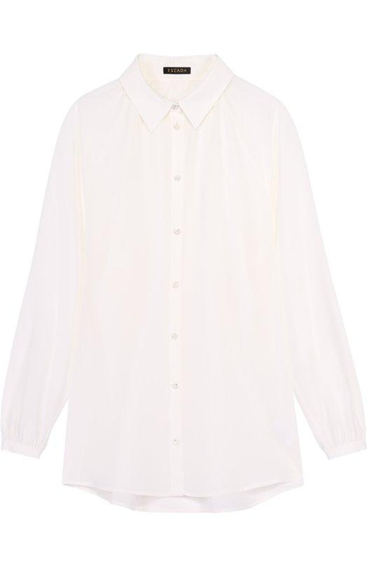 Шелковая блуза прямого кроя с укороченным рукавом Escada 5023334