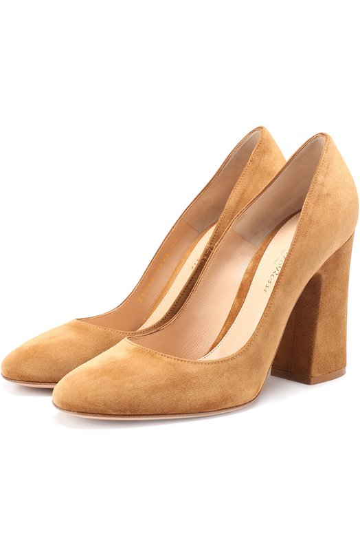 Купить Замшевые туфли на массивном каблуке Gianvito Rossi Италия 5134952 G21056.00RIC.CAM