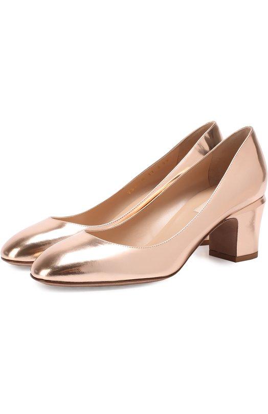Туфли Tan-Go из металлизированной кожи на низком каблуке Valentino MW2S0B11/SKD