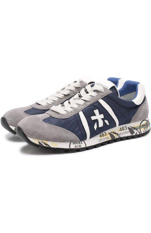 Комбинированные кроссовки Lucy на шнуровке Premiata LUCY/600E