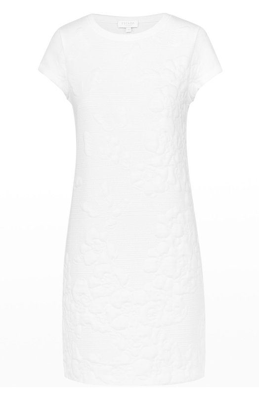 Мини-платье прямого кроя с фактурной цветочной отделкой Escada Sport 5022163