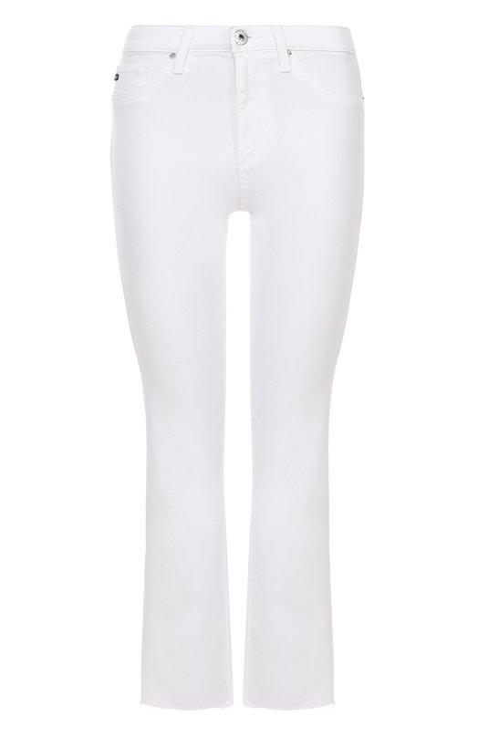 Укороченные расклешенные джинсы с необработанным краем Ag SSW1662-RH