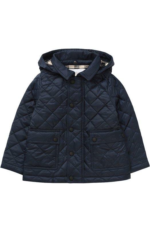 Утепленная стеганая куртка с капюшоном Burberry 3998326