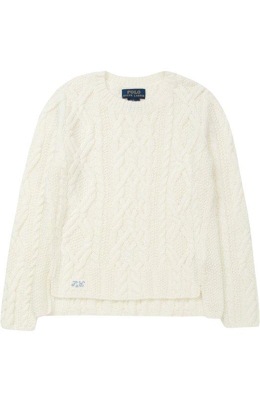 Пуловер фактурной вязки с разрезами по бокам Polo Ralph Lauren H40/XZ1N0/XY1N0