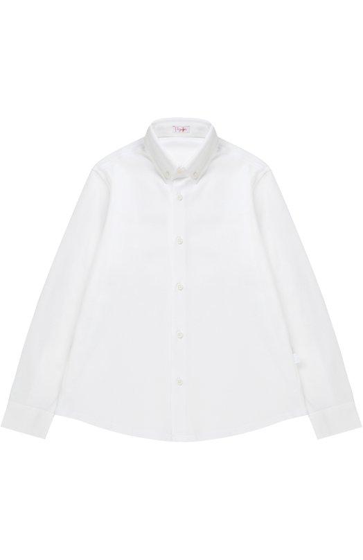 Рубашка из хлопка с отложным воротником Il Gufo P17CL126/M0082/5-8