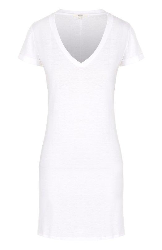Хлопковая сорочка прямого кроя с V-образным вырезом Back Label WDCDVN
