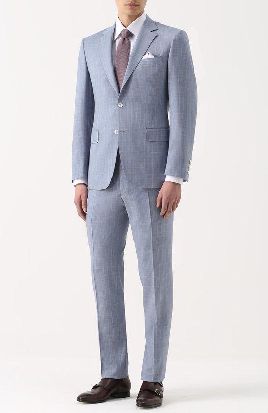 Шерстяной костюм с пиджаком на двух пуговицах Canali BF00480/11280/19
