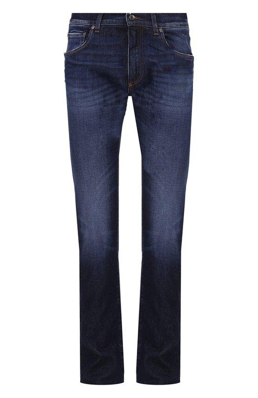 Джинсы прямого кроя с контрастной прострочкой Dolce & Gabbana 0101/G4ZJCD/G8U43