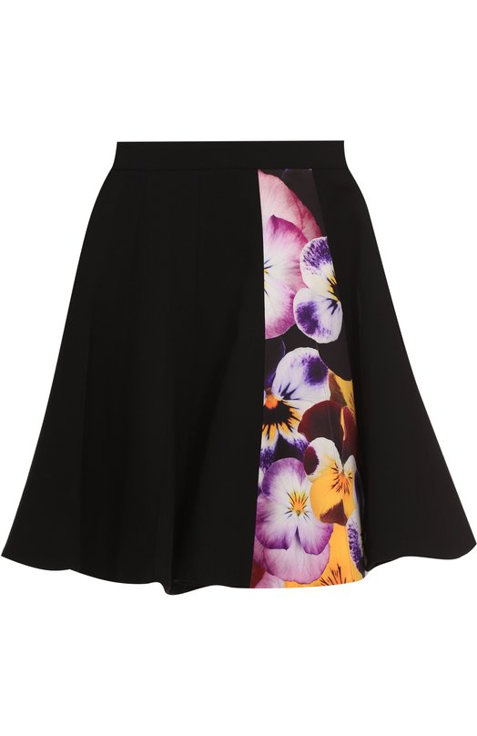 Расклешенная мини-юбка с цветочной вставкой Christopher Kane 456754/UAW10