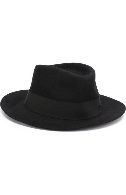 Купить Фетровая шляпа Andre Maison Michel, 1003001001/ANDRE, Италия, Черный, Фетр/кролик/: 90%; Хлопок: 7%; Вискоза: 3%;