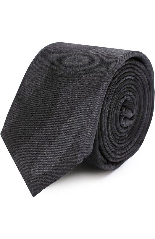 Шелковый галстук с камуфляжным принтом Valentino MU2EU002/CSE