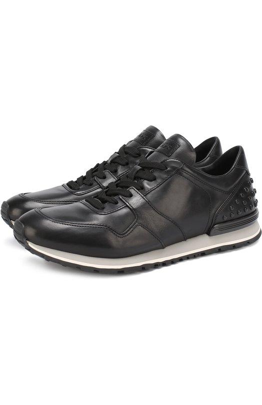 Купить Кожаные кроссовки на шнуровке Tod's Италия 5125945 XXM0XH0R011DVR