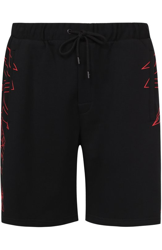 Хлопковые шорты свободного кроя с принтом Marcelo Burlon CMCB026S17068278