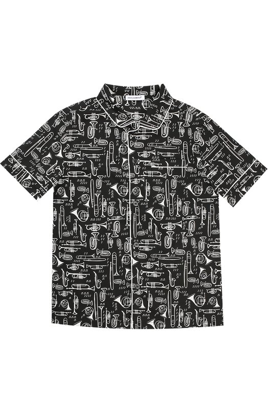 Рубашка из хлопка с принтом Dolce & Gabbana 0131/L42S17/FSEFK/2-6