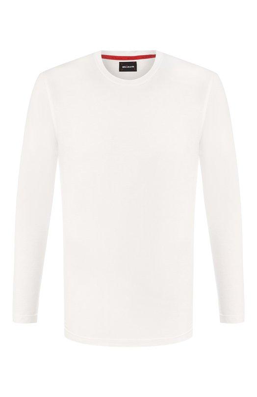 Купить Хлопковая футболка с круглым вырезом Kiton, UK843, Италия, Белый, Хлопок: 100%;