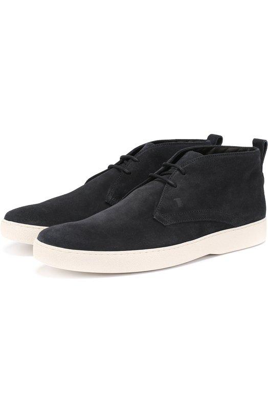 Замшевые ботинки на шнуровке Tod's XXM22A0S680RE0