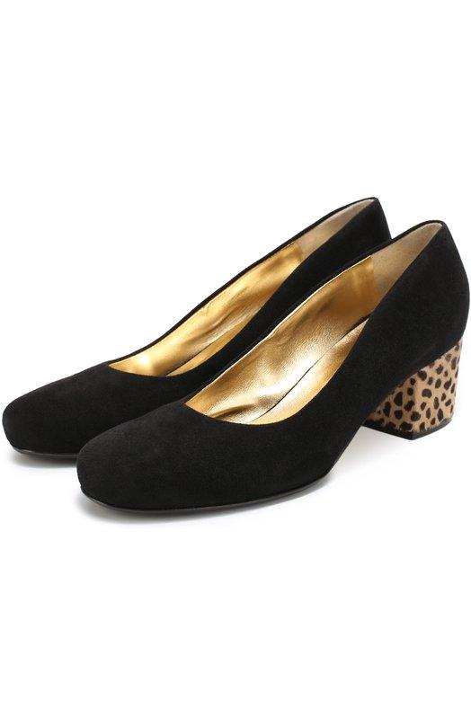 Замшевые туфли на декорированном каблуке Walter Steiger 1354/CAM0SCI0