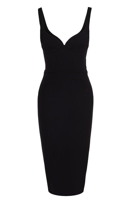 Платье-футляр без рукавов с открытой спиной Victoria Beckham DRS FIT 144B PSS17/DENSE RIB