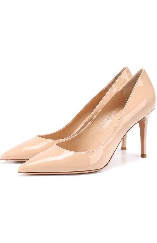 Купить Лаковые туфли Gianvito 85 на шпильке Gianvito Rossi, G24580.85RIC.VER, Италия, Бежевый, Кожа натуральная: 100%; Стелька-кожа: 100%; Подошва-кожа: 100%;