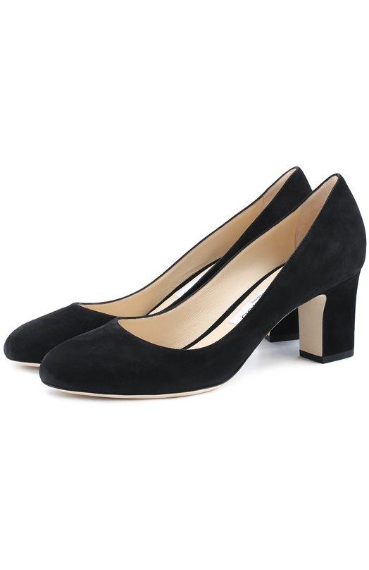 Купить Замшевые туфли Billie 85 на устойчивом каблуке Jimmy Choo, BILLIE 65/SUE, Италия, Черный, Стелька-кожа: 100%; Подошва-кожа: 100%; Замша натуральная: 100%;