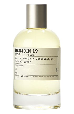 Парфюмерная вода Benjoin 19 Le Labo | Фото №1