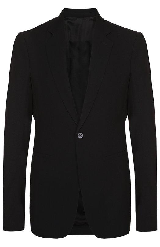 Однобортный пиджак из смеси вискозы и шерсти Rick Owens RU/17S9751/WL