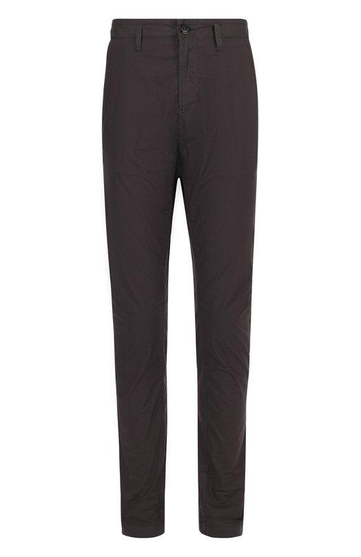 Хлопковые брюки прямого кроя Stone Island 661531203