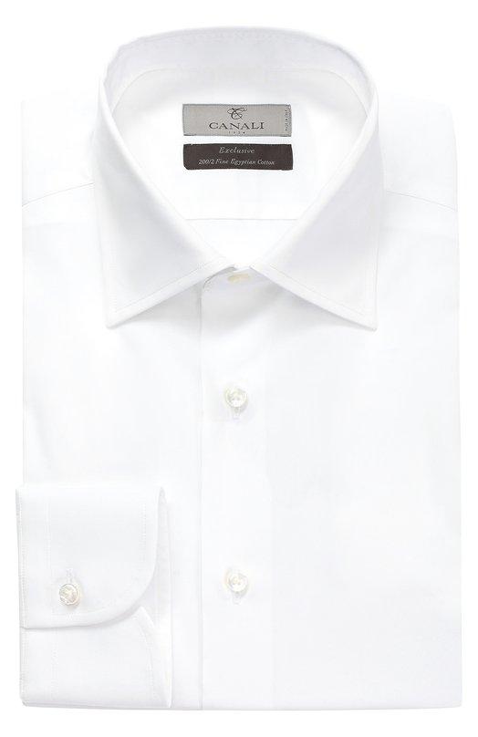 Купить Хлопковая сорочка с воротником кент Canali, GE00288/XX05, Италия, Белый, Хлопок: 100%;