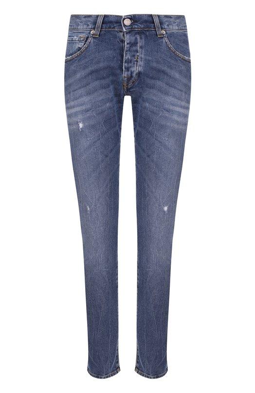 Зауженные джинсы с декоративными потертостями 2 Men Jeans PAUL NEWMAN/NDZRZ