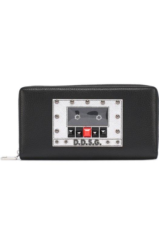 Кожаное портмоне на молнии с отделениями для кредитных карт и монет Dolce & Gabbana 0115/BP1672/AI134