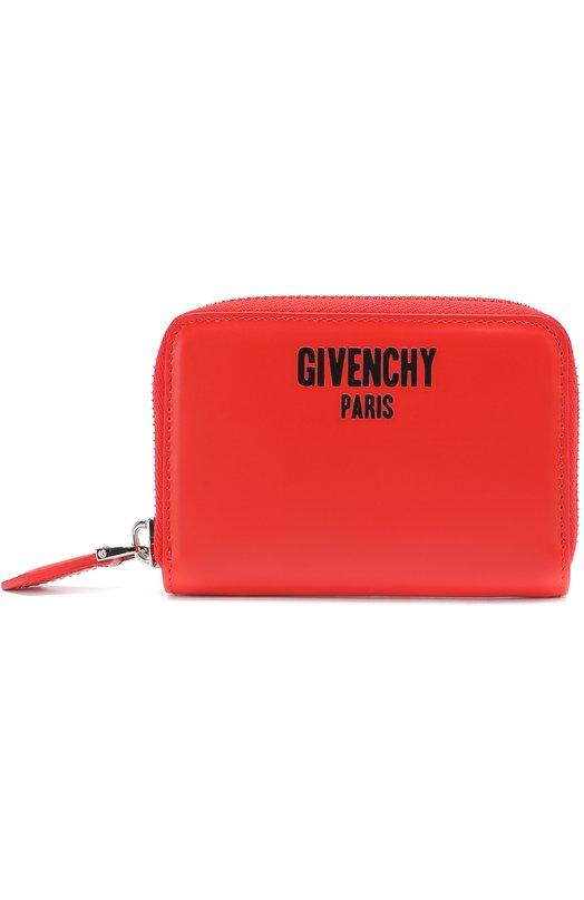 Кожаное портмоне на молнии с отделением для кредитных карт Givenchy BK0/6038/562
