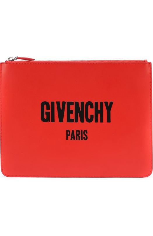 Кожаная папка для документов на молнии Givenchy