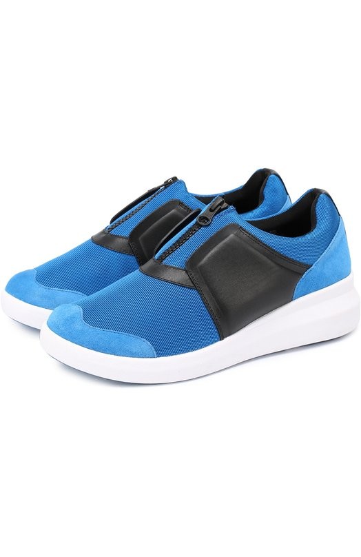Комбинированные кроссовки на молнии DKNY K461051964