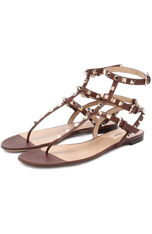 Кожаные сандалии Rockstud с ремешками Valentino MW2S0812/V0D