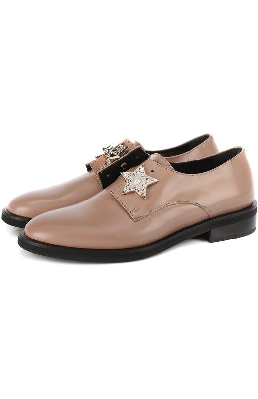 Кожаные ботинки с брошами Coliac CL300/NIGHT
