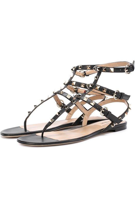 Кожаные сандалии Valentino Garavani Rockstud с ремешками Valentino Valentino