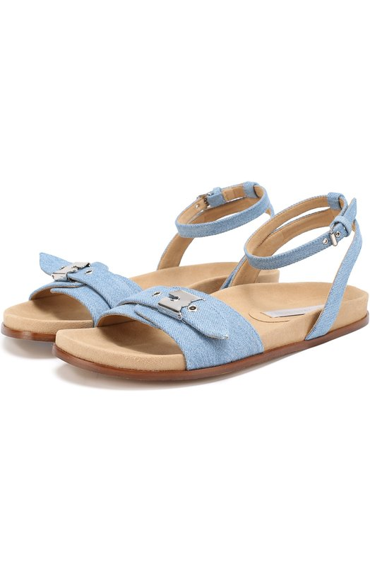 Сандалии из денима с пряжкой Stella McCartney 453602/W1A40
