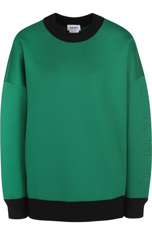 Свитшот свободного кроя со спущенным рукавом DKNY P4662168FA