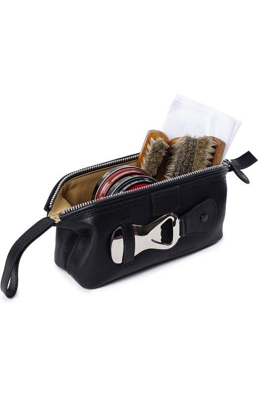 Купить Кожаный несессер с предметами для чистки обуви Truefitt&Hill, 00621, Великобритания, Бесцветный
