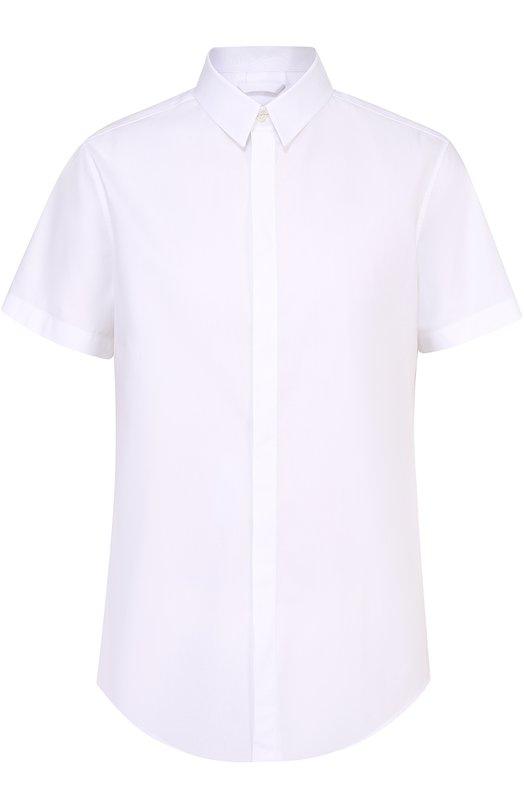 Хлопковая рубашка с короткими рукавами и контрастным принтом на спинке Iceberg I3M/G120/1264
