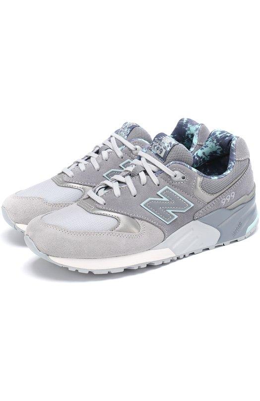 Купить Комбинированные кроссовки 999 на шнуровке New Balance Китай HE00361639 WL999TB/B